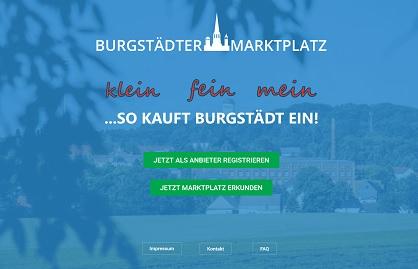 Burgstädter Marktplatz Titelseite